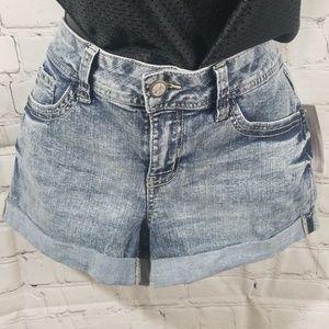 No Boundaries Acid Wash Shorts